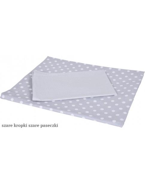 MD Pościel 6-elementowa Pościel drukowana Szare kropki szare paseczki
