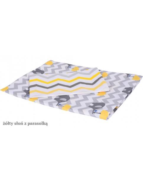 MD Pościel 6-elementowa Pościel drukowana Żółty Słoń z parasolką