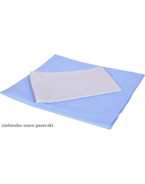 MD Pościel 5-elementowa Pościel drukowana Niebiskie paseczki Szare paseczki