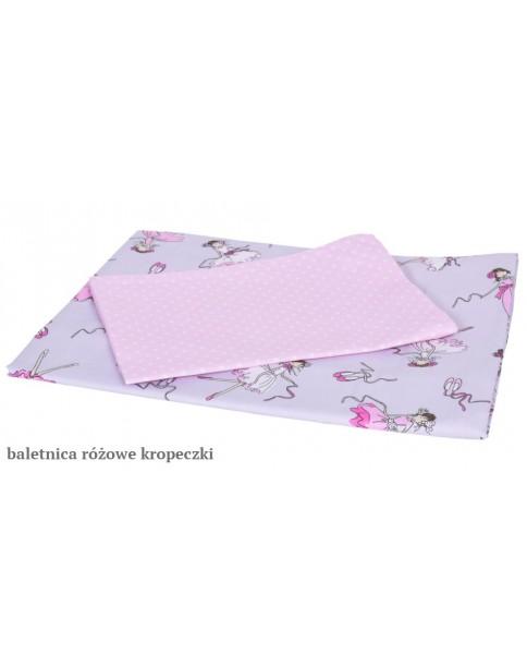 MD Pościel 2-elementowa drukowana Baletnica Różowe kropeczki
