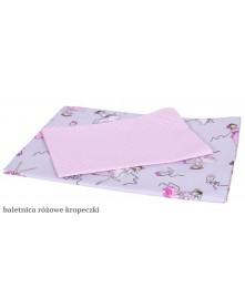 MD Pościel 3-elementowa drukowana Baletnica Różowe kropeczki