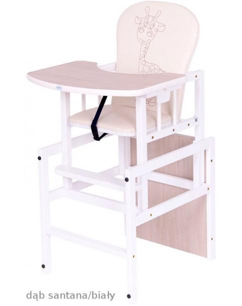 Drewex Krzesełko Antoś Żyrafa Dąb santana/ biały