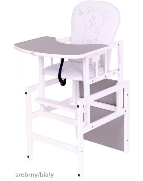 Drewex Krzesełko Antoś Miś i Przyjeciele srebrny/biały