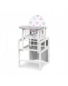Klupś krzesełko stolik Agnieszka II DE Luxe białe
