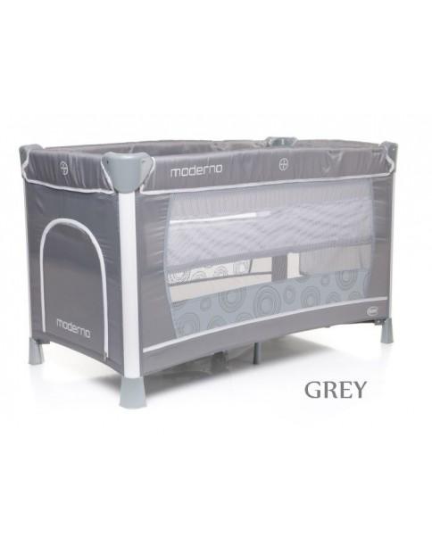 4Baby Łóżeczko turystyczne dwupoziomowe Moderno grey