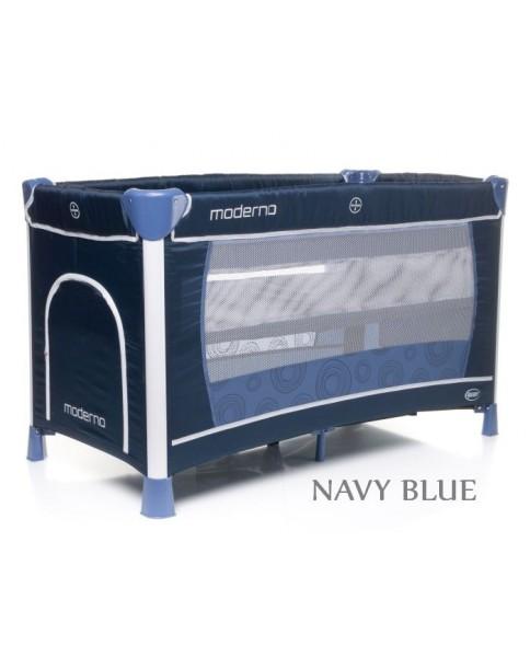 4Baby Łóżeczko turystyczne dwupoziomowe Moderno navy blue