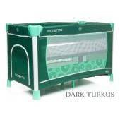 4Baby Łóżeczko turystyczne dwupoziomowe Moderno dark turkus