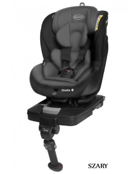 BabySafe Fotelik Samochodowy WESTIE Isofix 0-18 kg SZARY