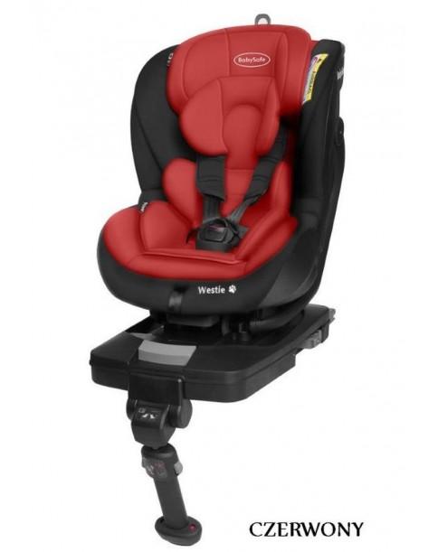 BabySafe Fotelik Samochodowy WESTIE Isofix 0-18 kg CZARWONY