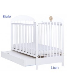Drewex łóżeczko Lion szuflada sosna 120x60cm