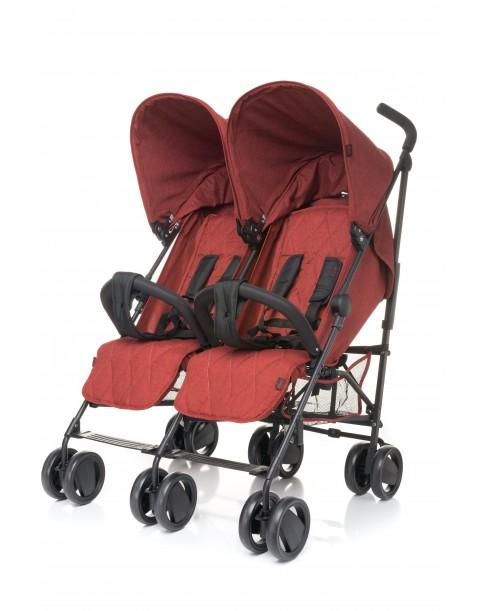 4 Baby wózek bliźniaczy TWINS Red