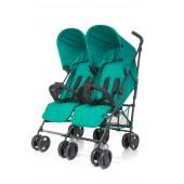 4 Baby wózek bliźniaczy TWINS Turkus