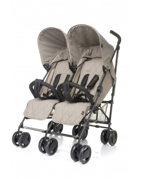 4 Baby wózek bliźniaczy TWINS Beige