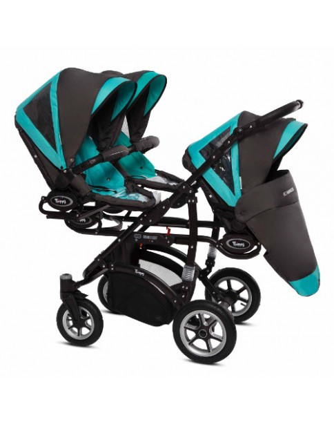 BabyActive Wózek dla Trojaczków Trippy 3w1