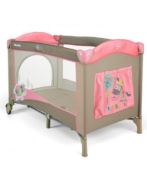 Milly Mallly łóżeczko turystyczne Mirage PinkCow