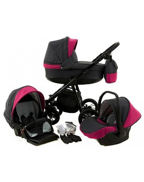 Paradise Baby Wózek Wielofunkcyjny Magnetico SLIM 3w1 54 różowy