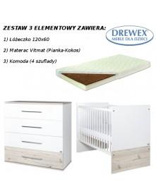 Drewex Zestaw 3-el Cortona