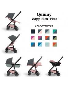 Quinny Wózek 3w1 Wielofunkcyjny Zapp Flex Plus + Gondola LUX + Fotelik Pebble Plus