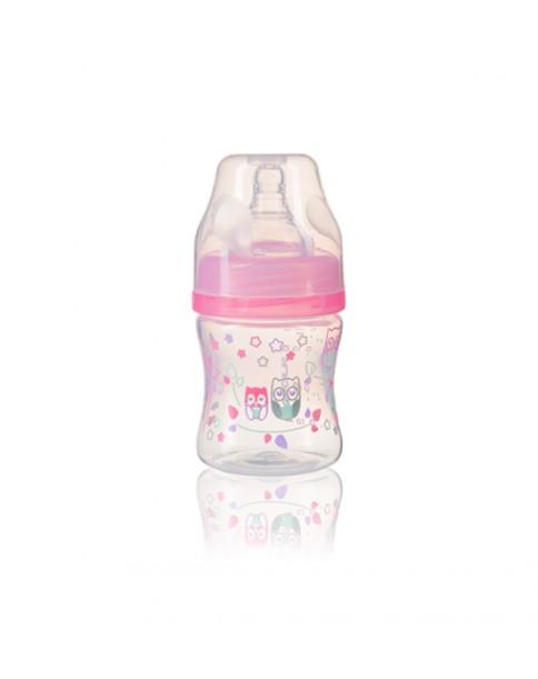 Baby Ono butelka plastikowa szerokootworowa 402 różowa 120ml