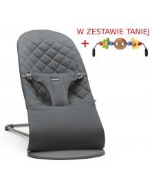 Babybjorn leżaczek BLISS - Piaskowy szary + Zabawka