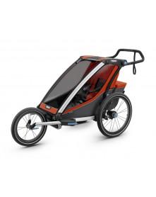 THULE Chariot Cross 1 wózek do biegania czerwony-szary