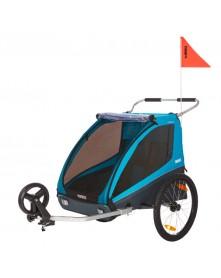 THULE Przyczepka rowerowa dla dziecka, podwójna - Coaster XT