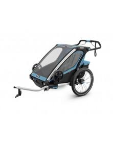 THULE Przyczepka rowerowa dla dziecka, podwójna  Chariot Sport 2 niebieska-czarna