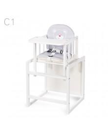 Klupś Krzesełko / stolik Aga I białe