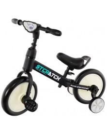 Eurobaby Rowerek klasyczny + biegowy Black