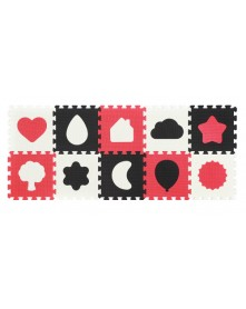Baby Ono Puzzle piankowe 10szt Kształty 6m+ 395/01
