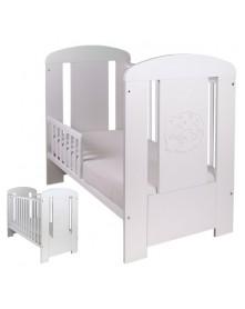 Drewex Łóżeczko/ tapczanik biały Miś Premium 120x60 cm