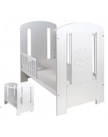 Drewex Łóżeczko / tapczanik biały Miś Comfort 120x60 cm