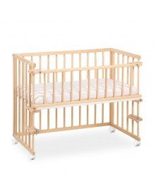 Klupś łóżeczko dostawne Piccolo Due sosnowe lub białe 90x40