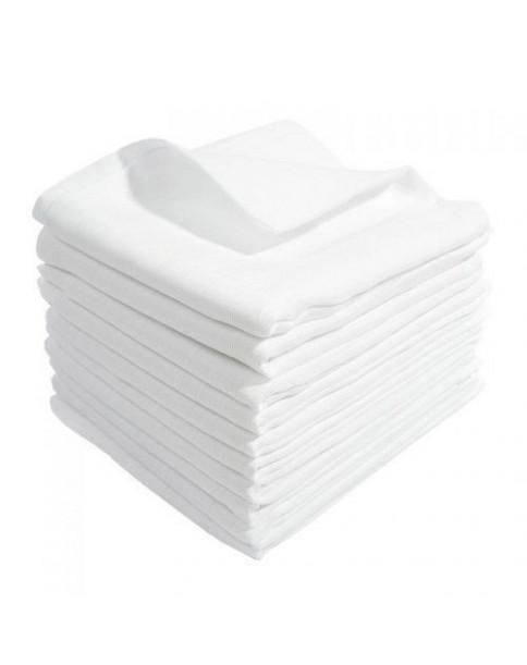 Pielucha Tetrowa jednokolorowa biała 80x80 cm