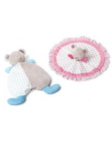 Przytulanka dla niemowląt – kocyk BEAR SUZIE&TONY 1235 1236