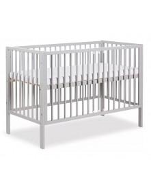 Klupś łóżeczko Frank Szare 120x60 cm