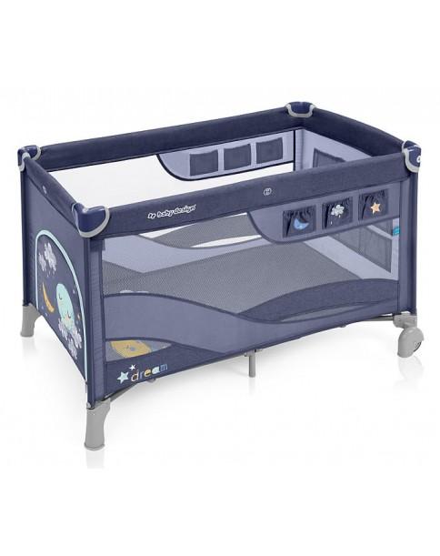 Baby Design łóżeczko turystyczne dwupoziomowe Dream Regular 03 blue