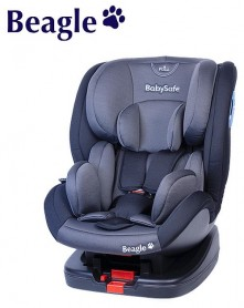 BabySafe fotel Beagle 0-25kg szaro-czarny