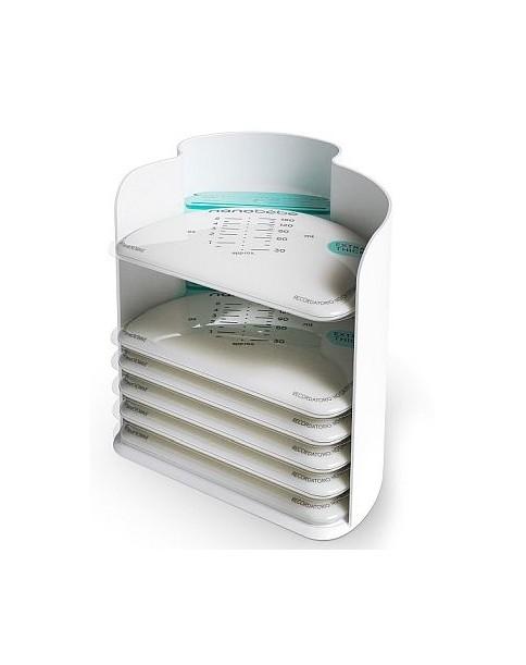 nanobebe torebki na mleko 25szt + organizer