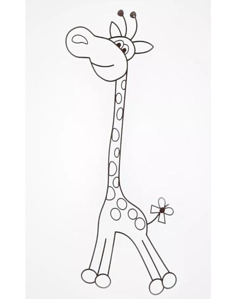 Klupś Łóżeczko Safari Żyrafka wzór