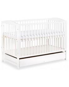 Klupś łóżeczko Henry białe/szuflada 120x60cm