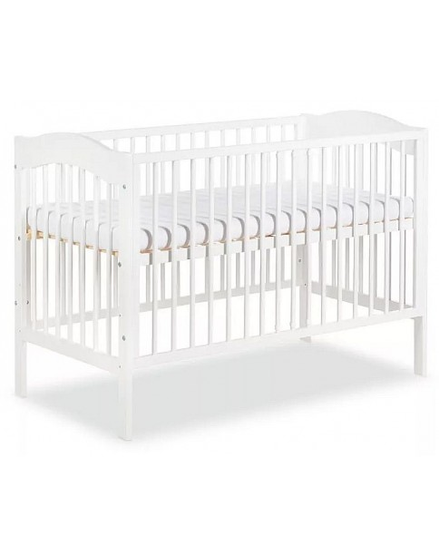 Klupś łóżeczko Radek IV białe 120x60cm