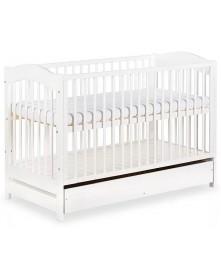 Klupś łóżeczko Radek V białe/szuflada 120x60cm