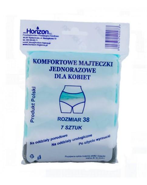 Horizon Majteczki jednorazowe po porodzie fizelinowe 7 szt.
