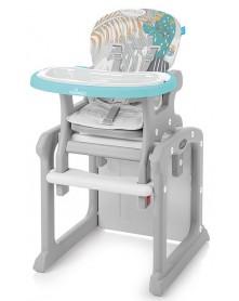 Baby Design Krzesełko do karmienia i stolik 2w1 CANDY 05 Turquoise