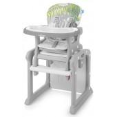 Baby Design Krzesełko do karmienia i stolik 2w1 CANDY 07 Grey