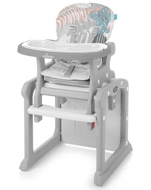 Baby Design Krzesełko do karmienia i stolik 2w1 CANDY 08 Pink