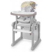 Baby Design Krzesełko do karmienia i stolik 2w1 CANDY 09 Beige