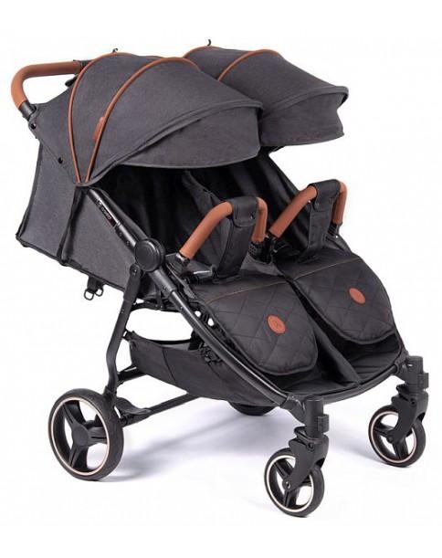 Coletto Wózek Bliźniaczy Enzo Twin Dark Grey
