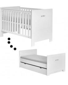 Pinio łóżeczko/ tapczan Blanco białe 140x70cm Marsylia MDF